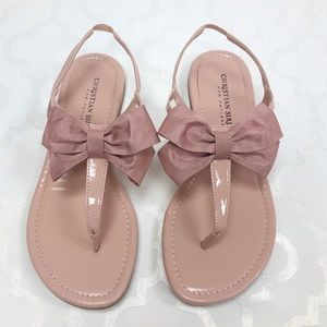 ✨ Christian Siriano Toni Blush Bow Sandal Size 5